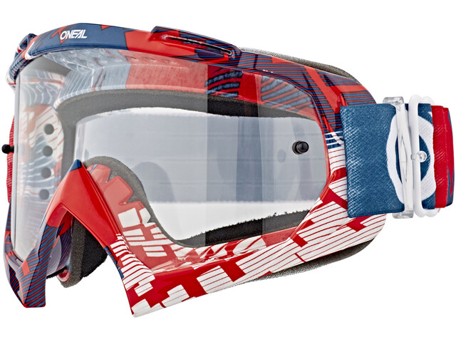 ONeal B-10 Goggle PIXEL red/blue-clear